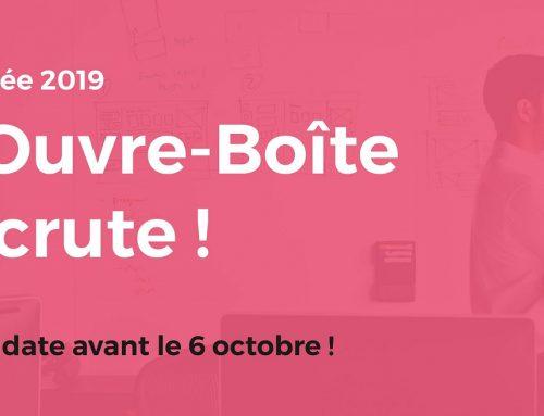 Rentrée 2019 : l'Ouvre-Boite Cote d'Azur recrute !